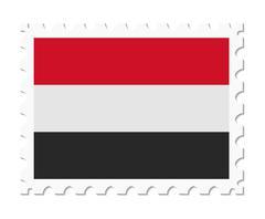 Stamp flag yemen Stock Illustration