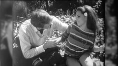 Man Unwanted Sexual Harassment Young Woman 1970s Vintage Film Home Movie 9770 Stock Footage