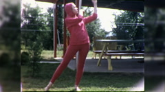 Young Ballerina Dances Modern Ballet Dancing 1960s Vintage Film Home Movie 9789 Stock Footage