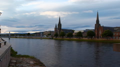 4K UltraHD Timelapse of cathedrals in Inverness, Scotland Stock Footage