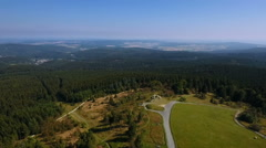 View over the Taunus uplands Stock Footage