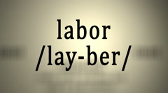 Definition: Labor Stock Footage