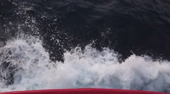 Wave splash from boat slow motion 1 Stock Footage