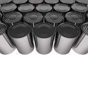 Tin cans 3D render Stock Illustration
