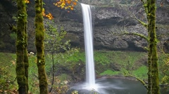 High definition movie of Silver Falls in Oregon with audio autumn season 1080p Stock Footage