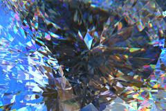 Crystal abstract 3D render Stock Illustration