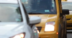 Manhattan New York City Taxi and Car Traffic 4K Stock Video - stock footage
