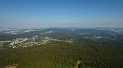 View over the Taunus uplands - stock footage