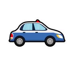 Police car auto vehicle transportation icon Stock Illustration