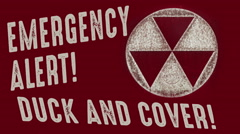 Emergency Alert Duck and Cover Vintage Stock Footage