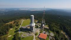 Grosser Feldberg, Taunus, Germany Stock Footage