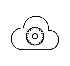 Cloud computing communication icon Stock Illustration