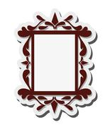 Angular vintage frame icon Stock Illustration