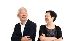Asian senior partner in formal attire. Love life family business concept Stock Photos