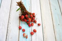 Bunch of lychee Stock Photos