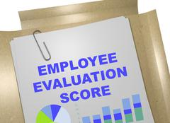 Employee Evaluation Score concept Stock Illustration