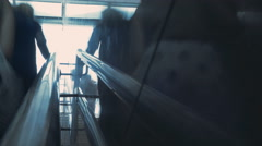 People in a stairway in Time Lapse Stock Footage
