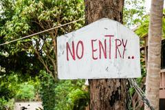 No entry sign - stock photo