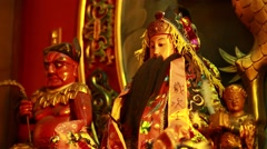 The statue of Taoism Stock Footage