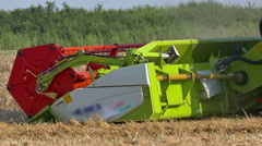Modern combine harvesters in the field Stock Footage