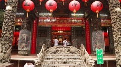 Chen yuanguang temple Stock Footage