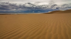 Cloudy day in the Gobi Desert Stock Footage
