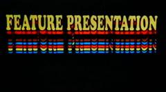 Feature Presentation Retro Film Videotape Intro Damage Stock Footage