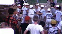 Boy Runs Home Run BASEBALL Game Home Base Win 1960s Vintage Film Home Movie 9893 Arkistovideo