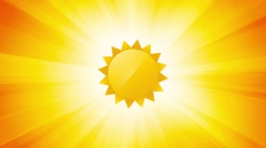 Sun on warm summer background Stock Footage