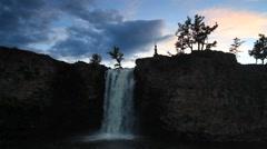 Beautiful view of the waterfall. Mongolia. Ulaan Tsutgalan. Stock Footage