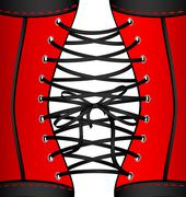 background red black corset - stock illustration