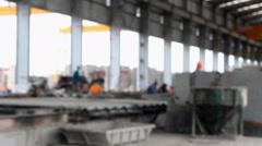 Defocus of labor working in factory Arkistovideo
