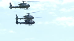 Military helicopter in action Stock Footage
