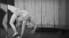 Stunt Woman Acrobat Contortionist Circus Show 1960s Vintage Film Movie 9788 Stock Footage