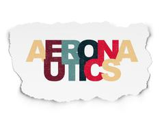 Science concept: Aeronautics on Torn Paper background - stock illustration
