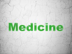 Healthcare concept: Medicine on wall background Stock Illustration