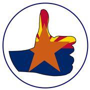 Thumbs Up Arizona Stock Illustration