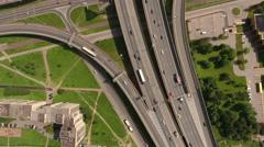 Orbital freeway encircling city is in Rybatskoye, Nevsky district. St Petersburg Stock Footage