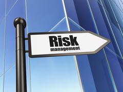 Business concept: sign Risk Management on Building background Stock Illustration