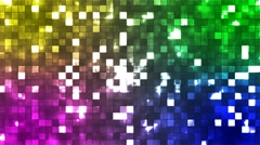 Broadcast Twinkling Firey Light Squares, Multi Color, Abstract, Loopable, 4K Stock Footage