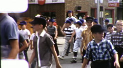 Boys Little League BASEBALL Team Child Sport 1960s Vintage Film Home Movie 9877 Stock Footage