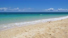UHD shot of the untouched tropical beach and turquoise ocean Stock Footage