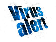 Security concept: Virus Alert on Digital background - stock illustration