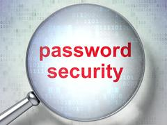 Protection concept: Password Security with optical glass Stock Illustration