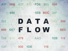 Data concept: Data Flow on Digital Data Paper background Stock Illustration