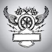 Motorcycle bike label Stock Illustration