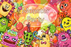 Cartoon Monsters Background Stock Illustration