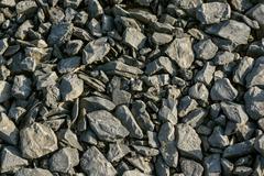 Crushed limestone aggregate - stock photo
