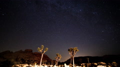 North Star Timelapse With Perseid Meteor Shower in Joshua Tree National Park Stock Footage