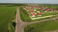 New residential village with houses under construction is in Dmitrov district Stock Footage
